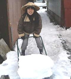 初めての雪掻き!